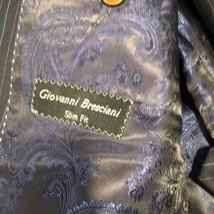 b169096c Men's giovanni bresciani slim fit full suit